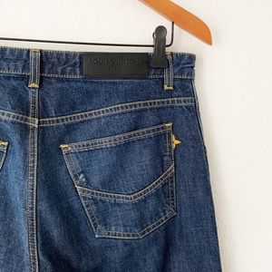 Louis Vuitton Cropped Blue Denim Jeans